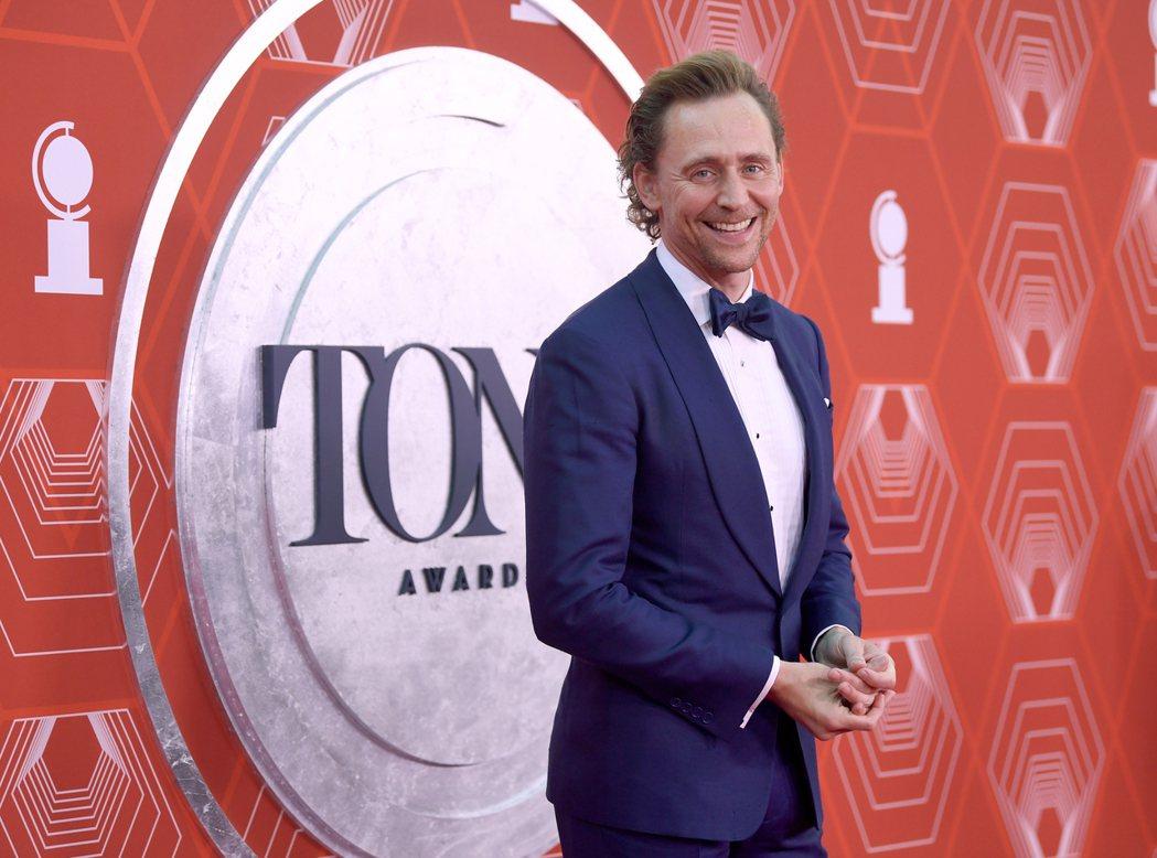 湯姆希德斯頓入圍本屆東尼獎最佳戲劇男主角,並沒能獲獎。(美聯社)