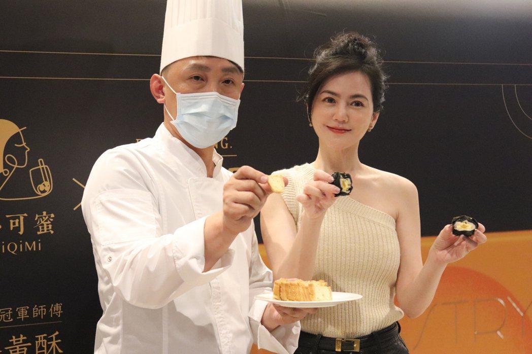 創業女王簡沛恩攜手世界冠軍楊嘉明強攻烘焙市場。圖/楊嘉明烘焙所提供