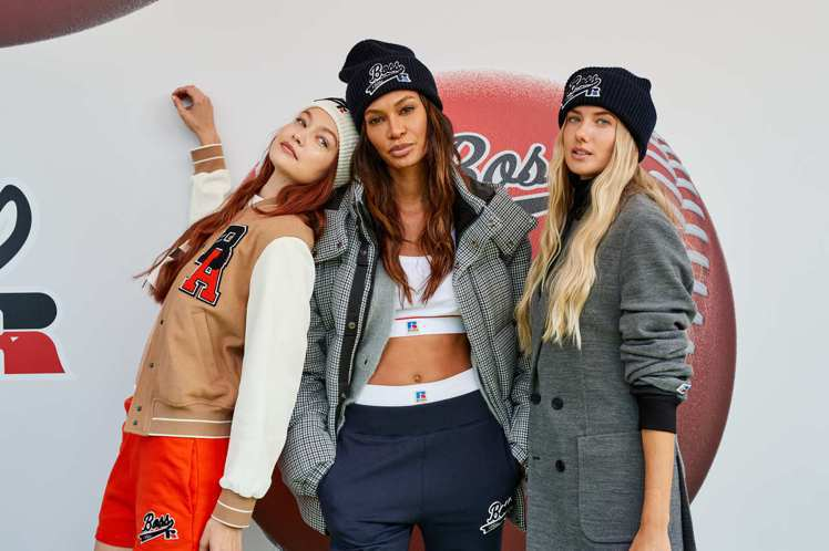 (左起)超模Gigi Hadid和Joan Smalls、德國田徑好手Alica...
