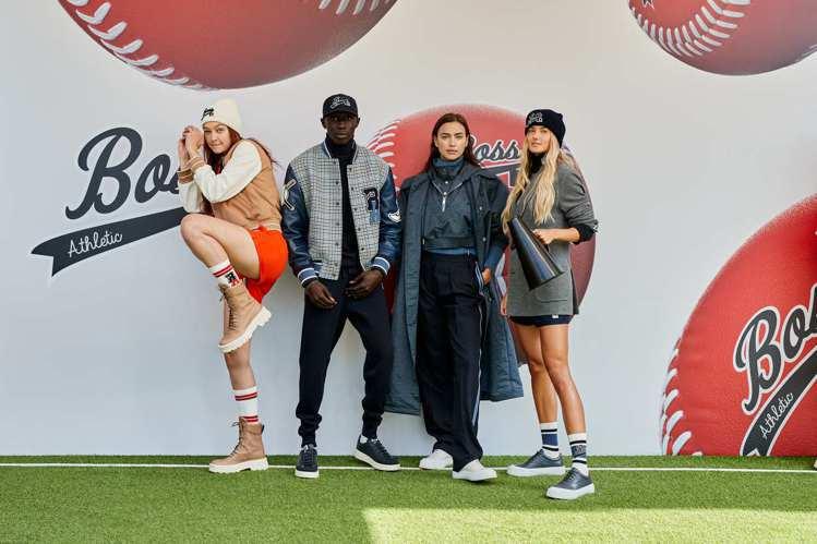 (左起)超模Gigi Hadid和網紅Khaby Lame、Irina Shay...