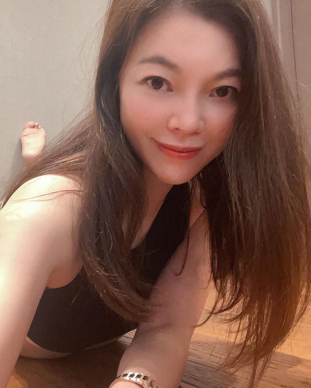 曾馨瑩分享運動照。 圖/擷自instagram。