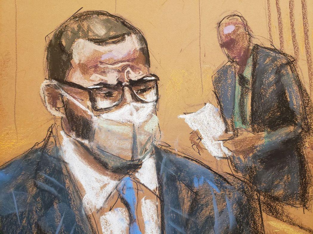 本次的法庭素描。 圖/路透社