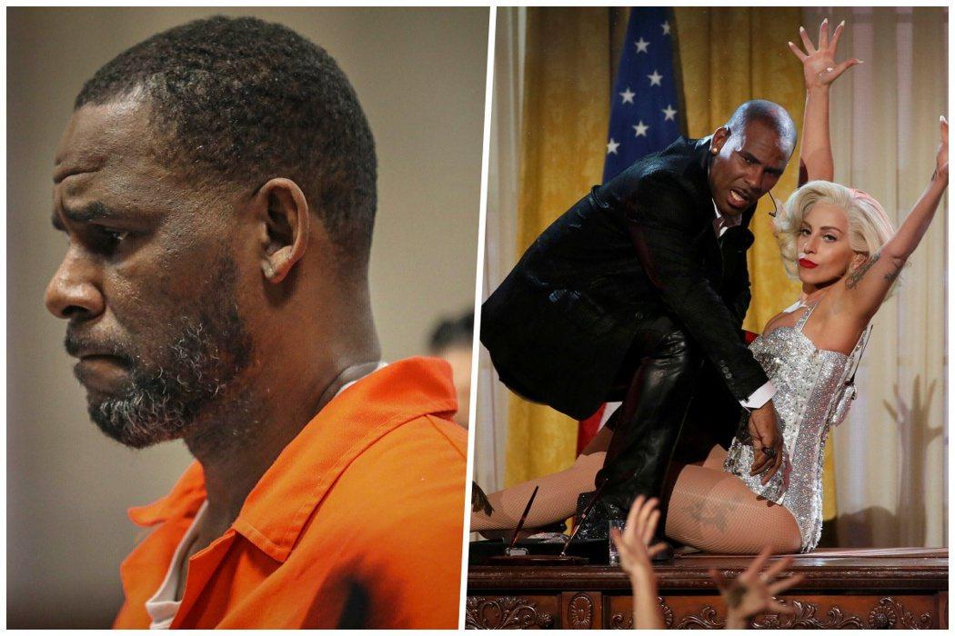 左為2019年R. Kelly出現在芝加哥萊頓刑事法院的聽證會上。右為2013年...