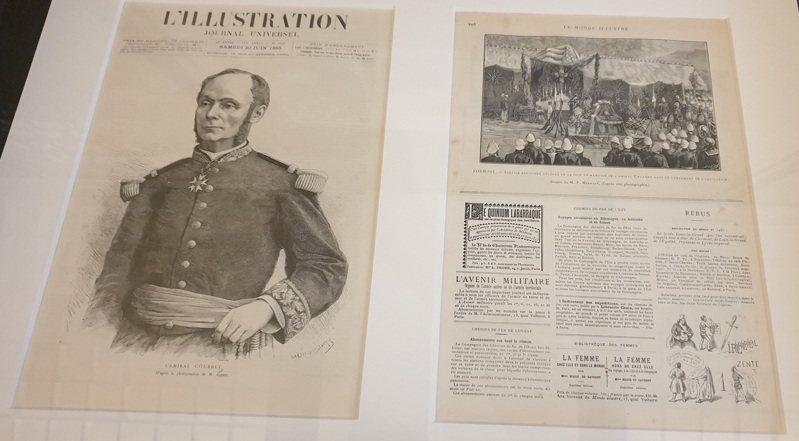 1883年領軍登陸澎湖的法軍指揮官孤拔,最後染疫死於澎湖。記者陳宛茜/攝影