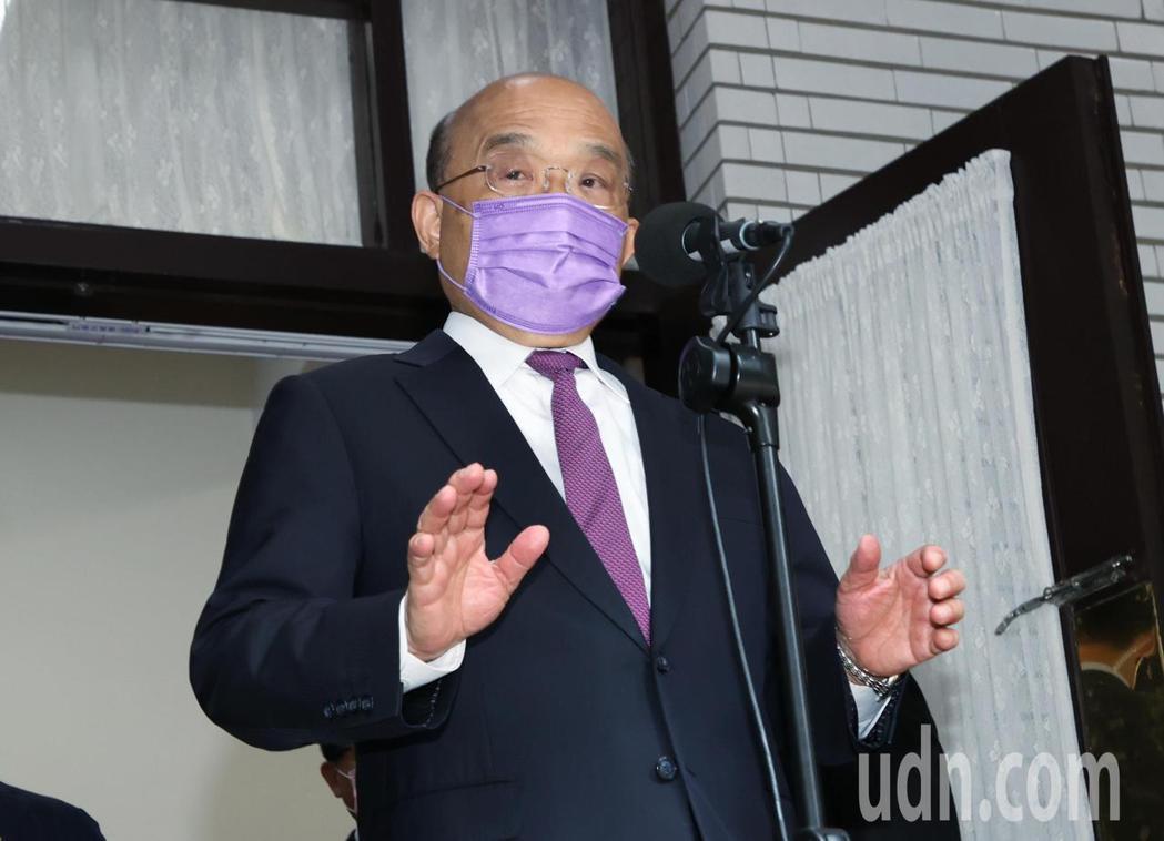 行政院長蘇貞昌今上午前往立法院進行施政報告,針對國民黨立委的阻擋,蘇貞昌表示,進...