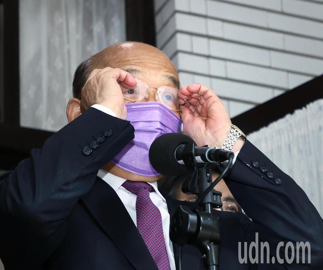 行政院長蘇貞昌今上午前往立法院進行施政報告。記者曾原信/攝影