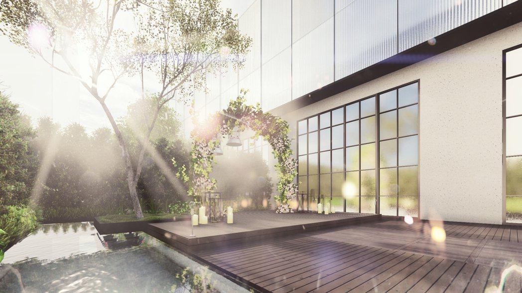 蘭克斯特擁有戶外證婚儀式場域。圖/雲品提供