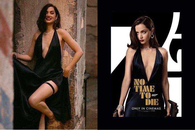蕭邦為安娜德哈瑪斯在「007生死交戰」中飾演的Paloma打造一系列共3款Gre...