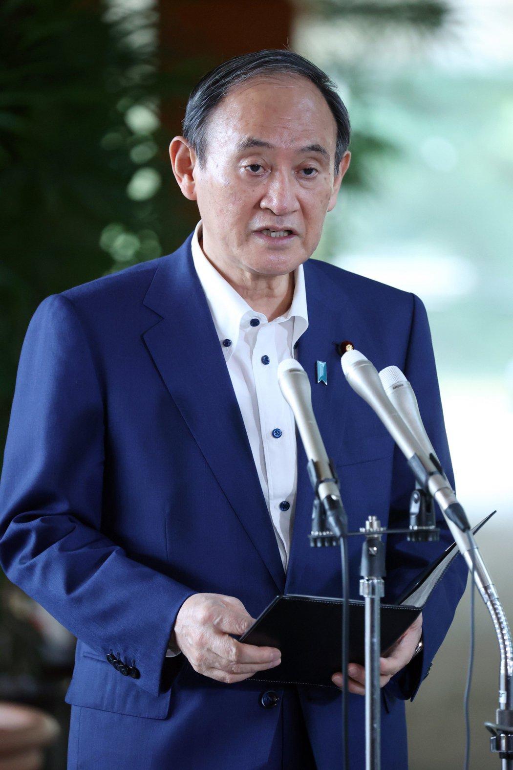 日本首相菅義偉。(歐新社)