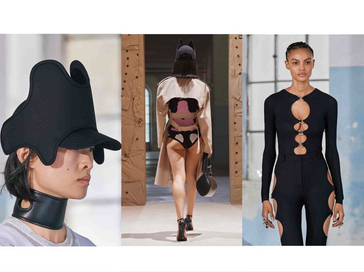 BURBERRY 2022春夏女裝以動物本能為靈感,突破想像的藩籬。圖/BURB...