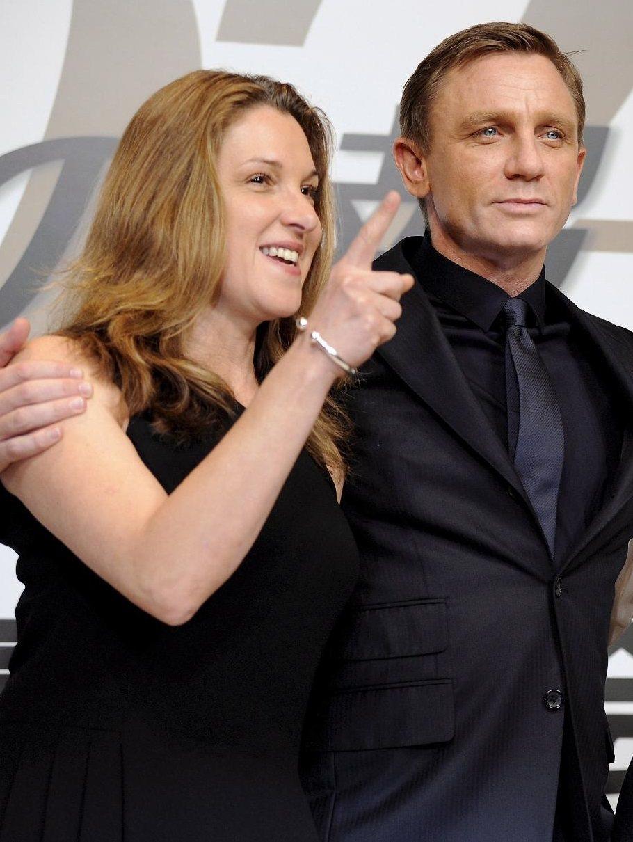 龐德片製片人芭芭拉布洛柯利(左)非常滿意丹尼爾克雷格。(歐新社資料照片)