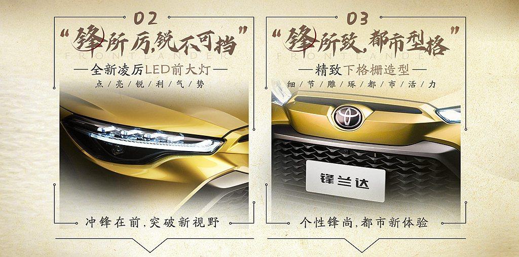 中國版Toyota Corolla Cross針對LED頭燈內部設計、水箱護罩等...