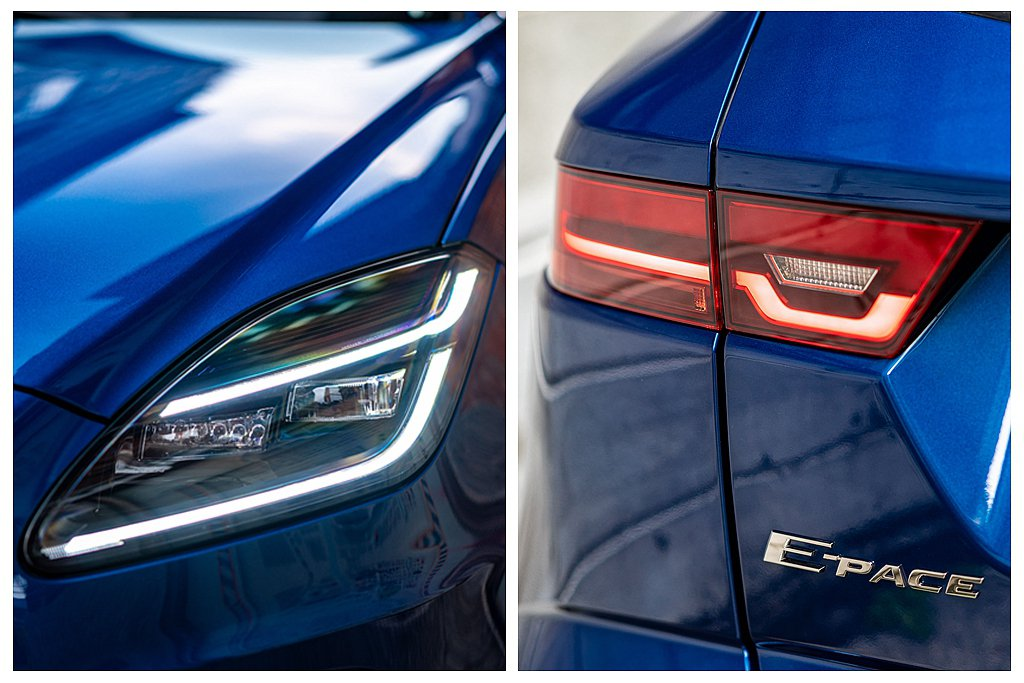 小改款Jaguar E-Pace前、後照明系統同步升級搭載LED燈組,車尾燈更具...