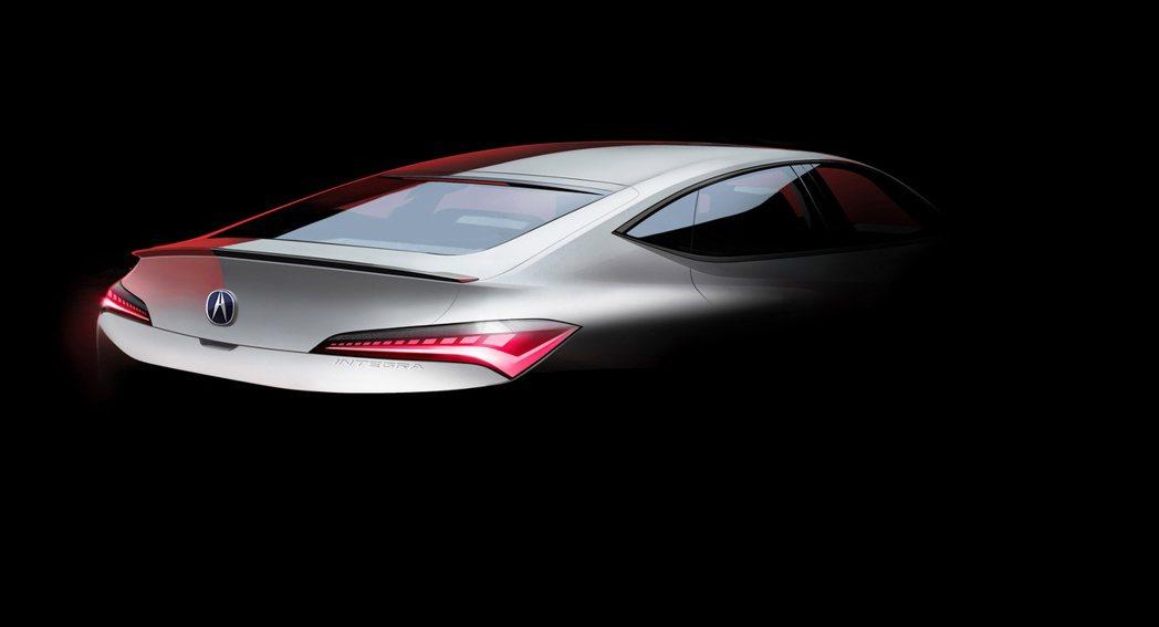 Acura再次推出Integra車尾照片,為一輛五門斜背車款。 摘自Acura