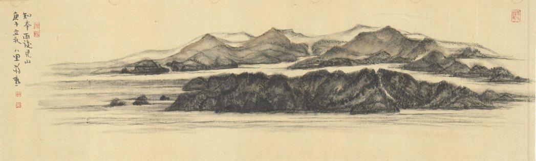 蔣勳作品,《知本雨後見山》。圖/中央書局提供