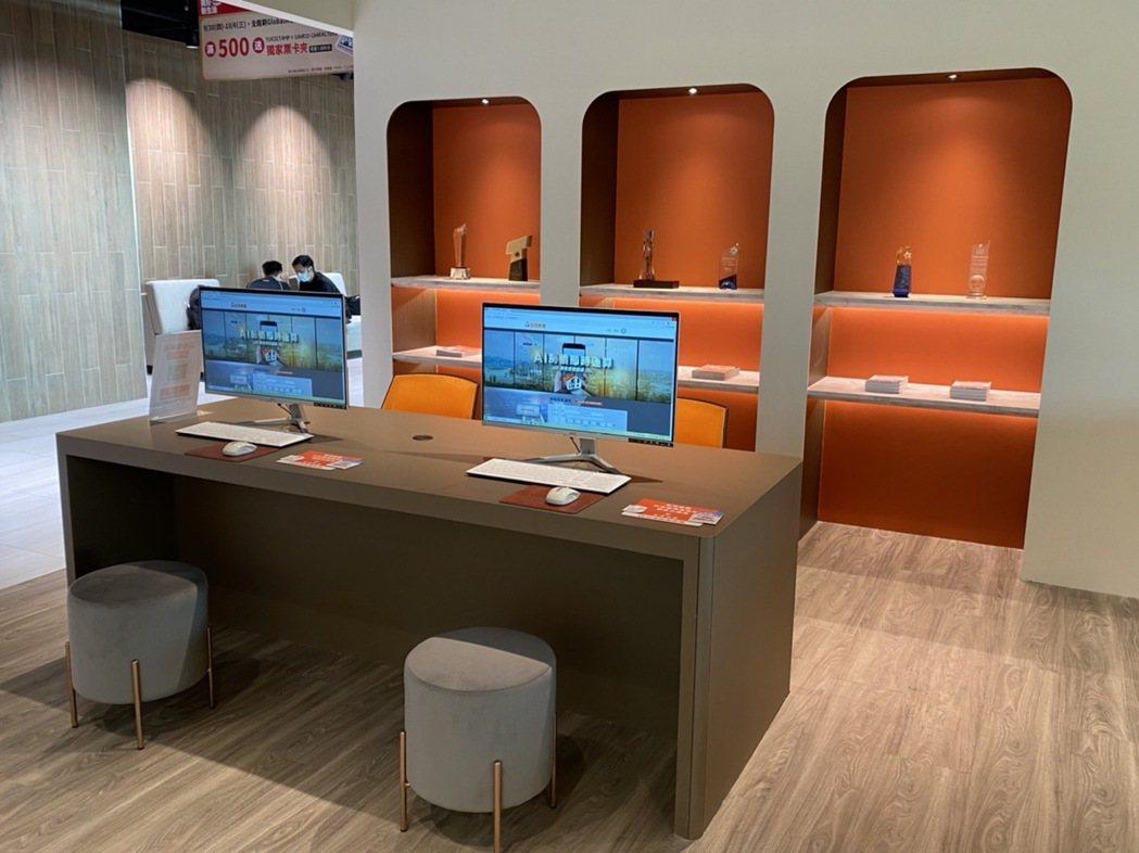 台灣房屋青埔AI館,以「AI地產5.0科技」, 提供LBS定位技術服務、地產大數...
