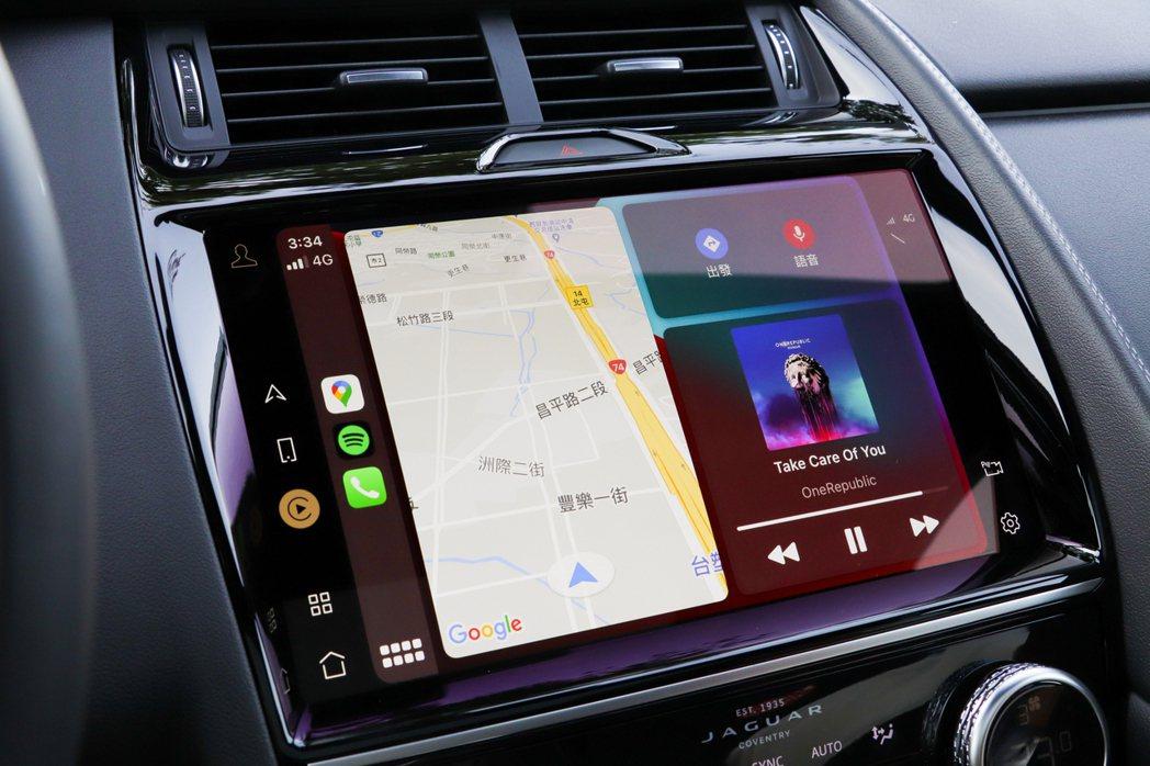 小改款Jaguar E-Pace亦提供了Apple CarPlay、Androi...