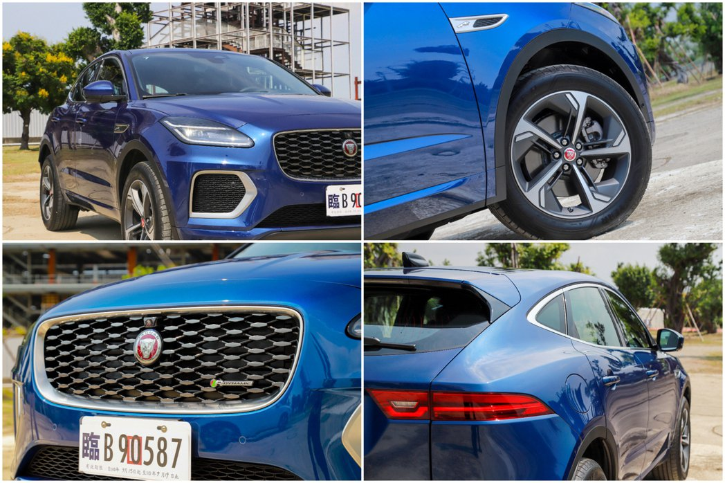 小改款Jaguar E-Pace外型變化不大,仍舊承襲既有的流線身形,但車頭方面...