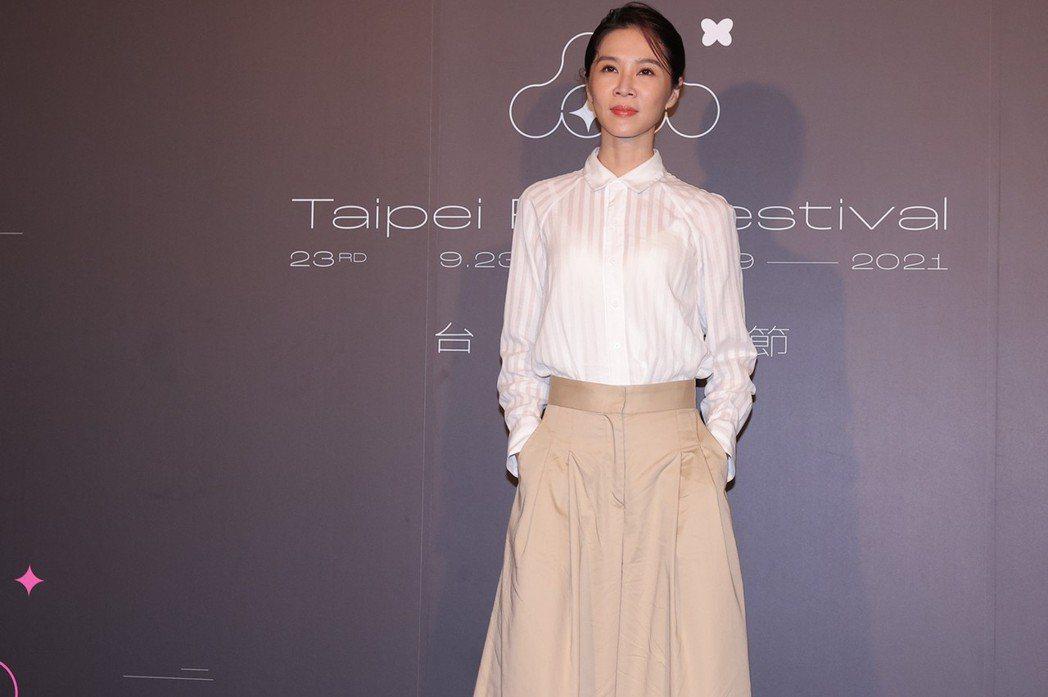 謝盈萱與黃秋生合作台劇「四樓的天堂」,稱讚影帝氣場極強。記者李政龍/攝影