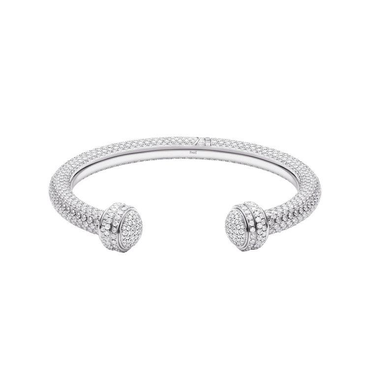 PIAGET Possession系列高級珠寶鑽石手鐲。 圖/容易文創提供