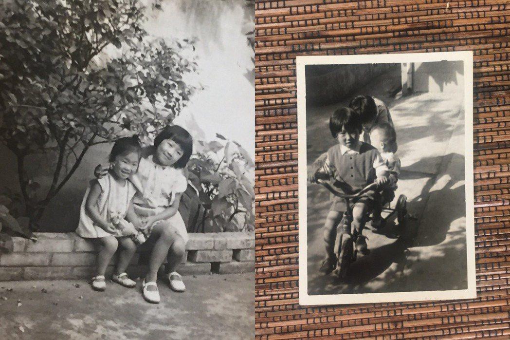 左圖:韓良憶與和大姊韓良露從小在北投成長;右圖:韓良憶與弟弟韓良愷皆於北投出生,...