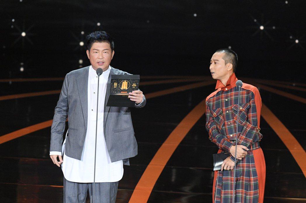 曾國城、浩子擔任頒獎人。圖/三立電視提供