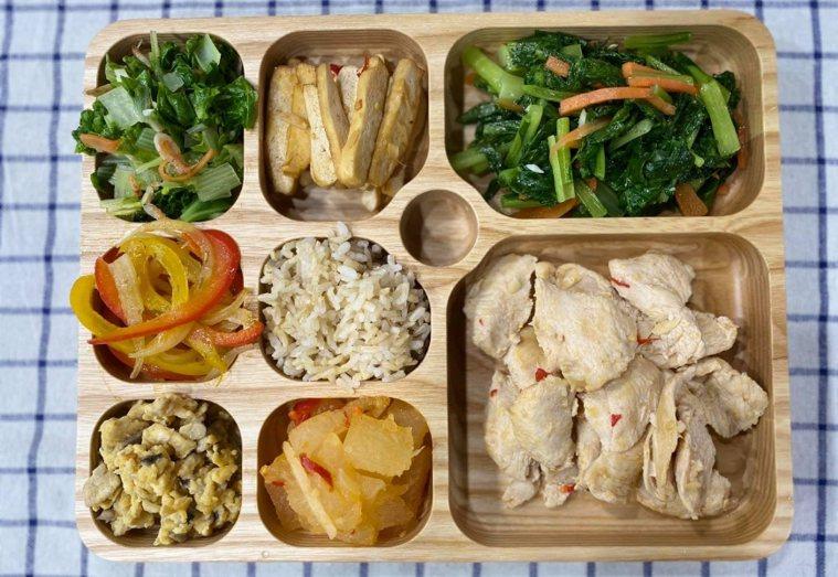 使用餐盤控制食量,飯、麵要裝在最小格。 圖/取自50+(Fifty Plus)
