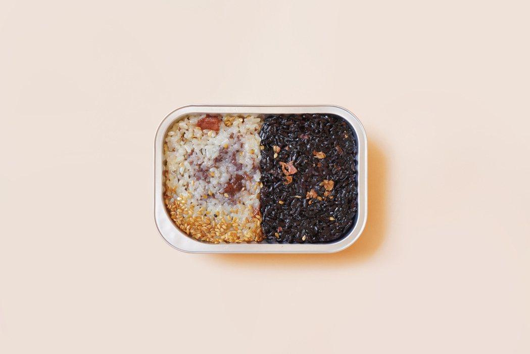 「小浪漫豆沙甜米糕小食盒」包含玫瑰紫玉豆沙、桂花白玉豆沙。圖/婉婉 WantOn...