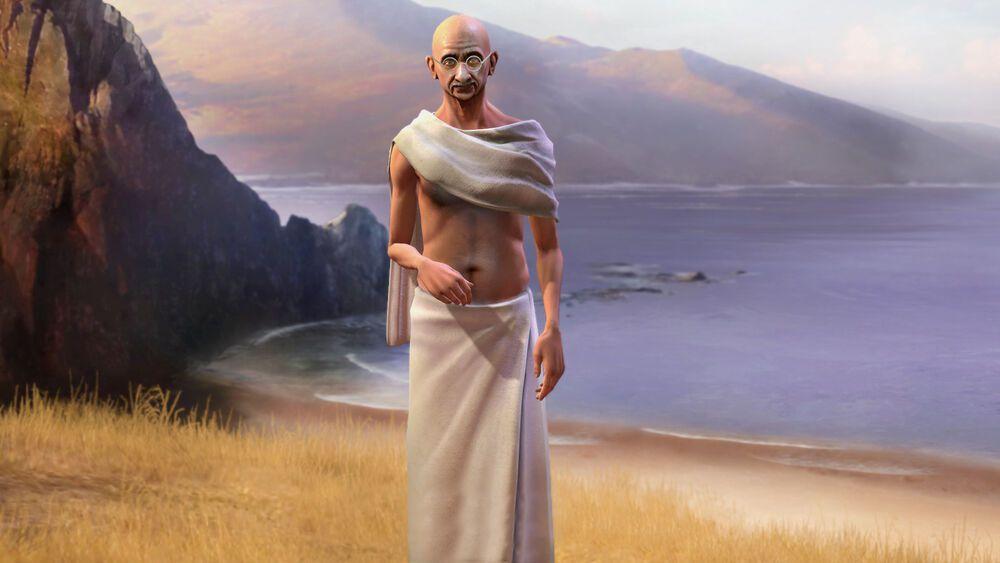 《文明帝國 V》裡的甘地