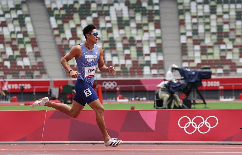 「台灣最速男」楊俊瀚續戰全運會,服裝、釘鞋等都需要檢查。圖/聯合報系資料照片