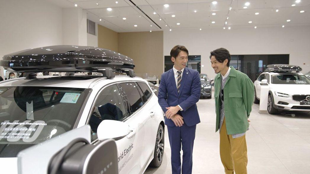 雙金鐘視帝溫昇豪(左)、姚淳耀首次在螢光幕前攜手合作。圖/國際富豪汽車提供