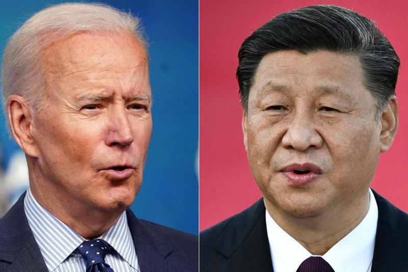 外界猜測,美國和大陸高層官員正在安排美國總統拜登(左)和大陸國家主席習近平(右)舉行峰會。法新社