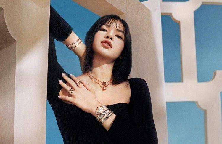 天團BLACKPINK成員Lisa為寶格麗全球大使。圖/BVLGARI提供