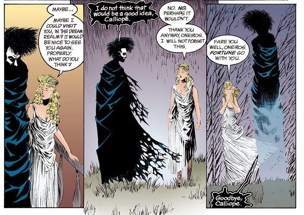 夢神與卡利俄佩。 圖/DC Comics