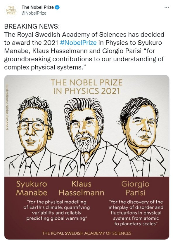 圖/取自「The Nobel Prize 推特」帳號