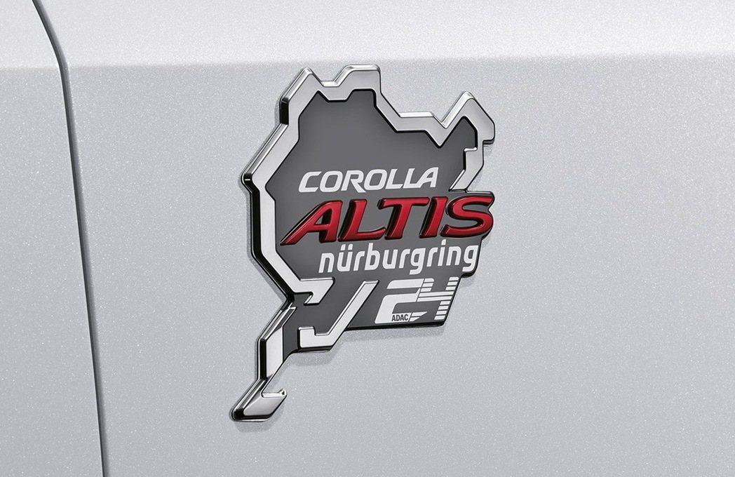 Toyota Corolla Altis紐柏林特仕版銘牌。 摘自Toyota G...