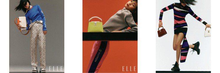 鄭浩妍早前在拍攝《ELLE》雜誌時詮釋路易威登2021早秋系列。圖/取自IG
