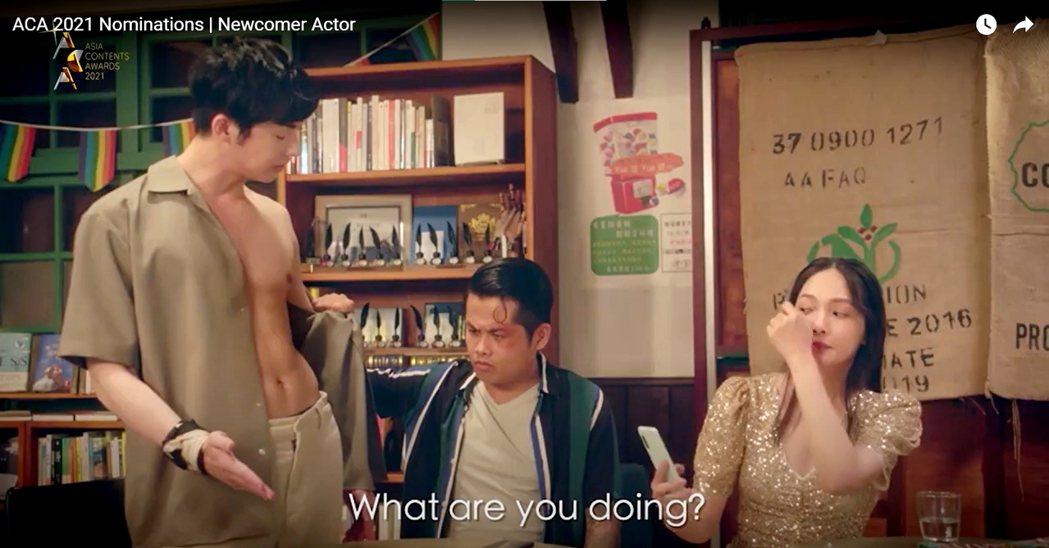蕭子墨(左)以「不讀書俱樂部」入圍釜山影展「亞洲內容大獎」新人獎,戲裡爆肌畫面剪...