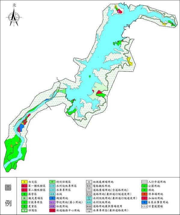 「曾文水庫特定區計畫(第4次通盤檢討)」都市計畫變更作業,已完成第1階段並發布實施。圖/台南市都發局提供