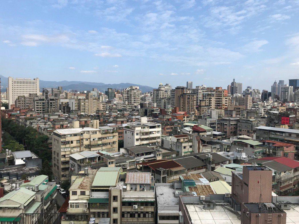 圖為台北市街景俯瞰。記者游智文攝影/報系資料照