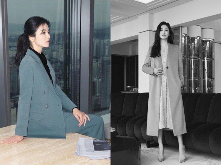 宋慧喬代言的韓國服裝品牌MICHAA同步釋出冬季系列。圖/取自IG