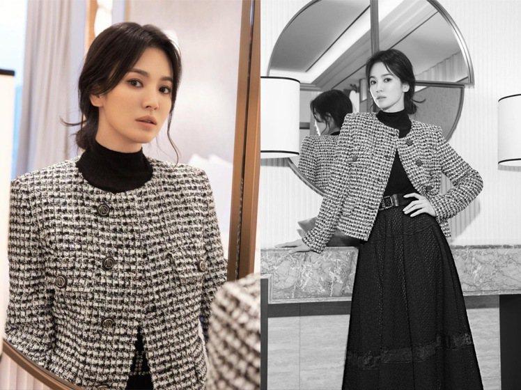 宋慧喬代言的韓國服裝品牌MICHAA以Be an Icon作為冬季主題。圖/取自...