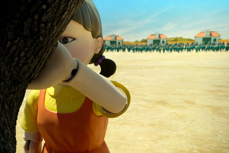 由 Netflix 出資製作韓國電視劇集《魷魚遊戲》,引發全球熱潮,圖為魷魚遊戲劇照。圖/Netflix 提供