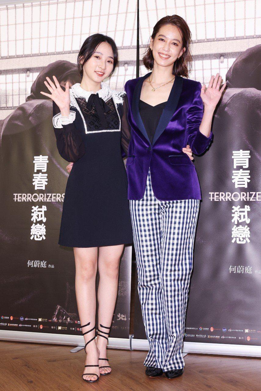 「青春弒戀」預告首播記者會,李沐(左)、陳庭妮出席。記者沈昱嘉/攝影
