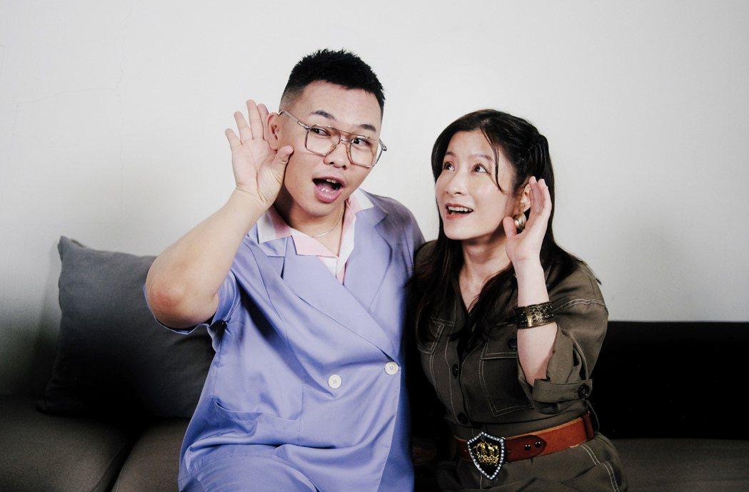 那那大師(左)與陶莉萍在節目中忘情唱跳。圖/小鋼砲娛樂提供