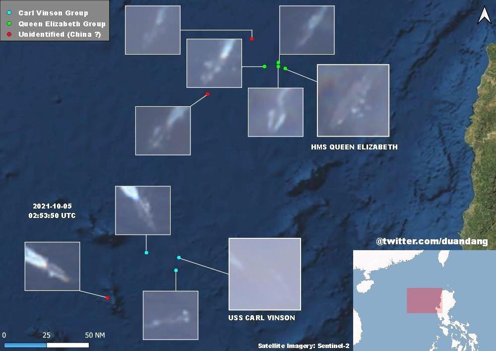 同一個星期內,正在菲律賓西部海域大規模聯合軍演的美國與盟軍大艦隊,也在大舉操演之...