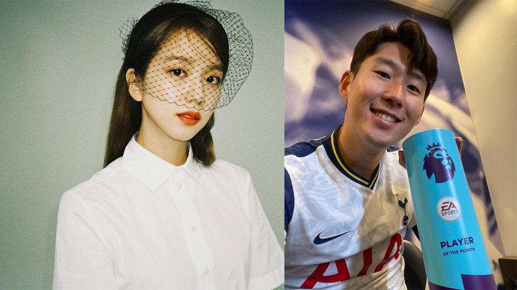 BLACKPINK成員Jisoo被爆戀上足球金童孫興。圖/擷自IG