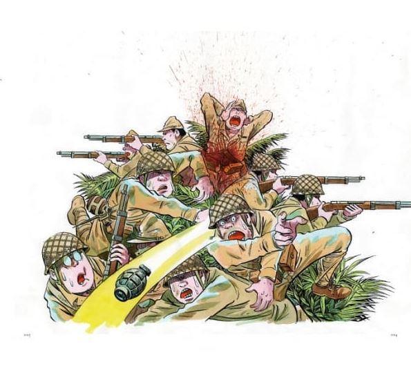 儘管因為戰爭而只剩下一只右手,水木大師的畫作依然非常精彩