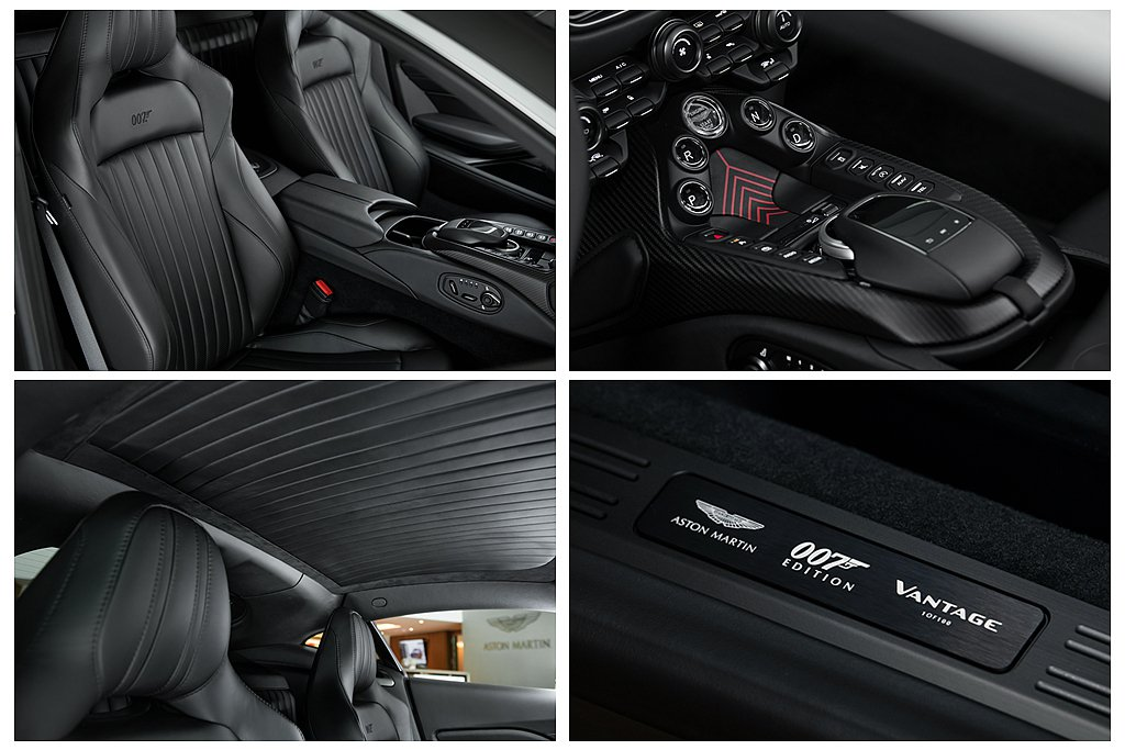 Aston Martin Vantage 007 Edition內裝以曜石黑Ob...
