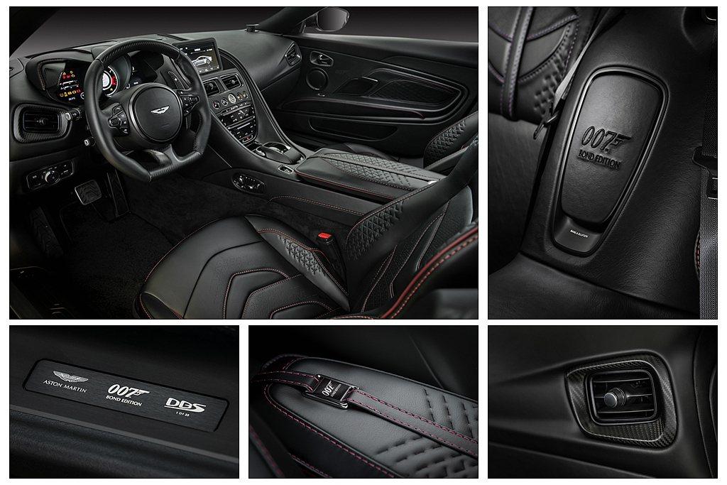 DBS Superleggera 007 Edition內裝採用黑色Pure B...